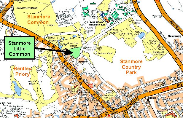 Stanmore Little Common - Harrow Nature Conservation Forum on submarine map, meteorologist map, artist map, the national map, explorer map, ptolemy map,